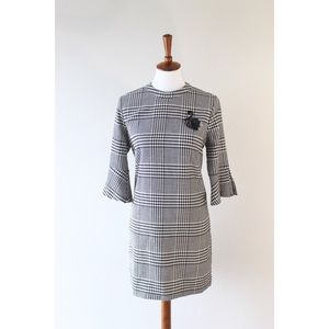 H&M Dresses - H&M tweed dress with beaded swan